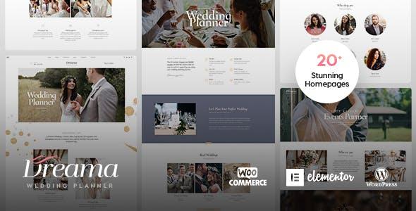 Download Dreama - Engagement & Wedding Planner WordPress Theme