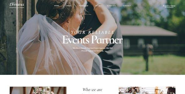 Dreama - Engagement & Wedding Planner WordPress Theme