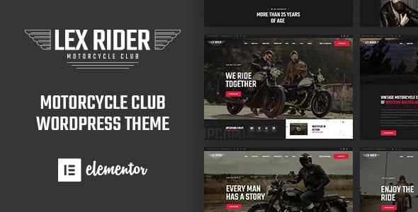LexRider - Motorcycle Club WordPress Theme - WooCommerce eCommerce