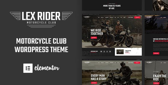 Motorcycle Website Templates From Themeforest
