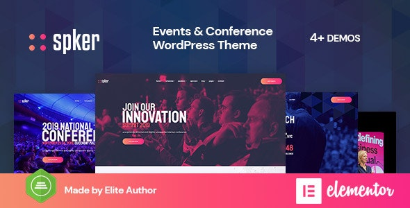 Spker - Conference & Event WordPress Theme - Events Entertainment