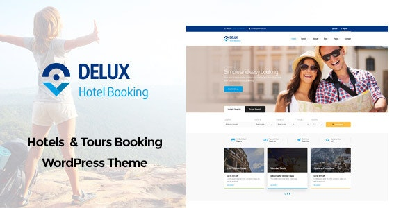 Delux - Online Hotel Booking WordPress Theme - Retail WordPress