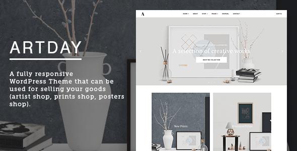 Artday - Creative Artist WordPress Shop - WooCommerce eCommerce