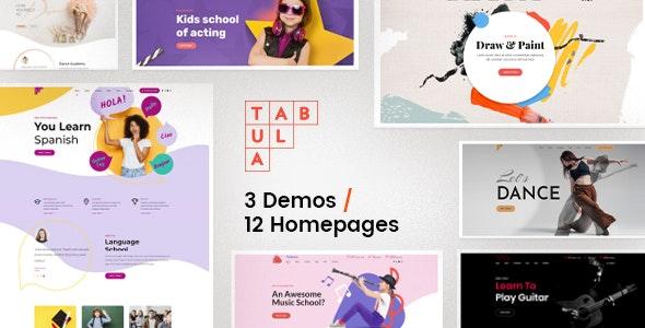 Tabula - Art, Music & Language School - Education WordPress