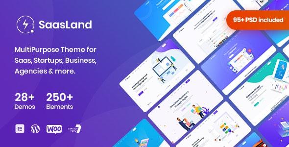 Saasland - MultiPurpose WordPress Theme for Startup - Software Technology