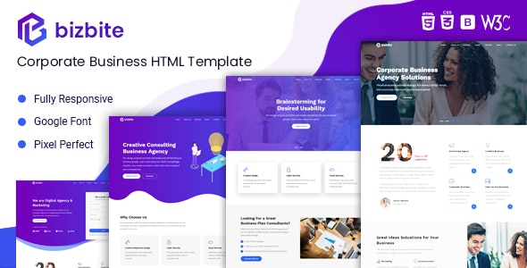 BizBite - Corporate Business and Agency Template - Corporate Landing Pages
