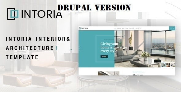 Intoria - Interior & Architecture Drupal 8 Theme - Business Corporate