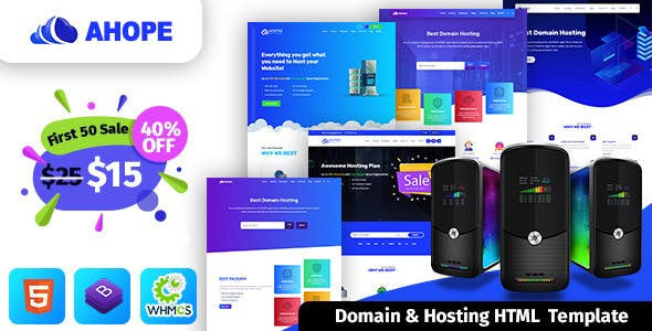 Ahope - Hosting Template With WHMCS