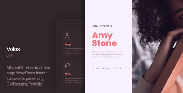 Resume One Page Website Templates From Themeforest