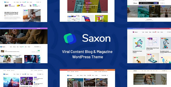 Saxon - Viral Content Blog & Magazine Marketing WordPress Theme - News / Editorial Blog / Magazine