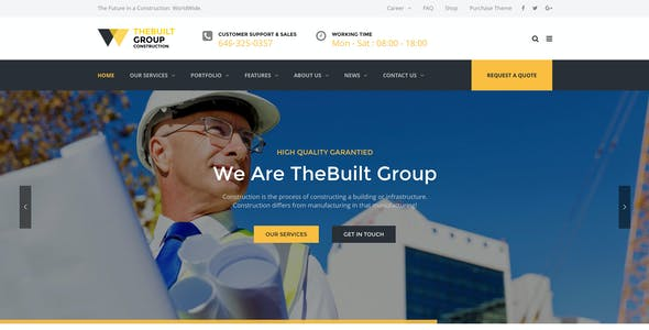 TheBuilt - Construction and Architecture WordPress theme