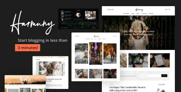 Harmuny — A Responsive WordPress Blog Theme - Personal Blog / Magazine