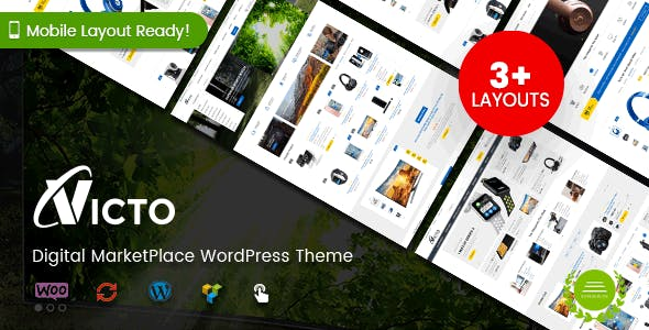 Victo - Digital MarketPlace WordPress Theme (Mobile Layouts Included)
