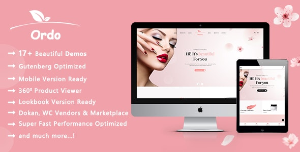 Ordo | Natural Cosmetics WooCommerce WordPress Theme - WooCommerce eCommerce
