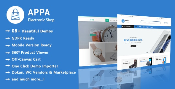 Appa | Electronics & Watches WooCommerce WordPress Theme - WooCommerce eCommerce