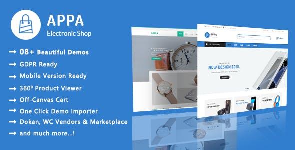 Appa | Electronics & Watches WooCommerce WordPress Theme