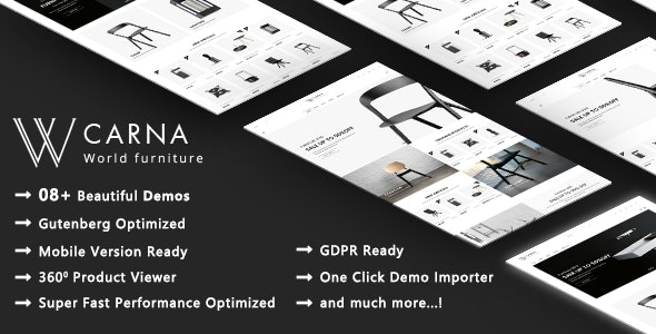 Carna | Luxury Furniture WooCommerce WordPress Theme - WooCommerce eCommerce