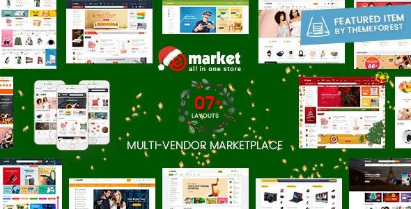 eMarket - Multi Vendor MarketPlace WordPress Theme (7+ Homepages & 2 Mobile Layouts Ready) - WooCommerce eCommerce