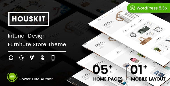 Houskit - Interior Design & Furniture Store WordPress Theme (Mobile Layout Ready) - WooCommerce eCommerce