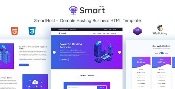 SmartHost - Domain Hosting Business HTML Template by themesvila