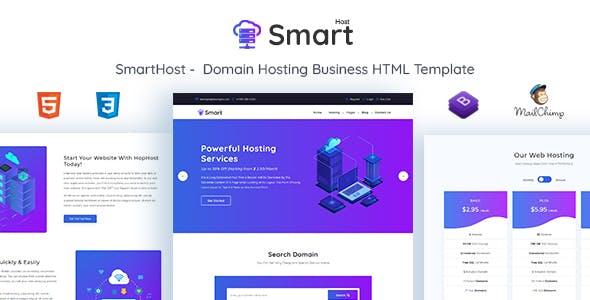 SmartHost - Domain Hosting Business HTML Template