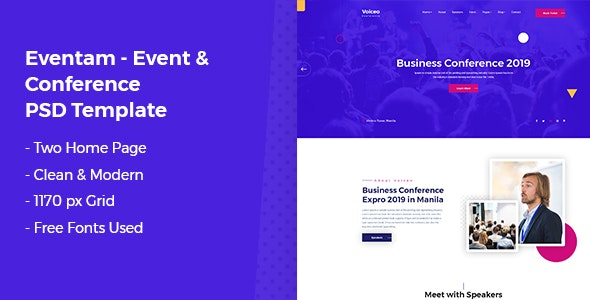 Eventam - Conference & Event PSD Template - Business Corporate