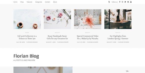 Florian - Responsive Personal WordPress Blog Theme