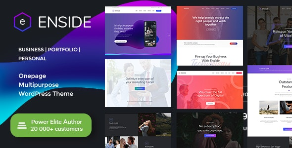 Enside - Multipurpose Onepage Landing Page WordPress Theme - Portfolio Creative