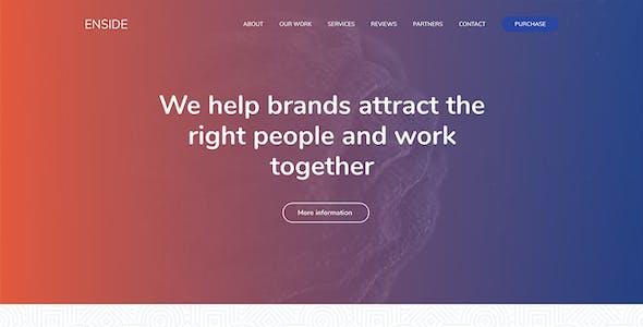 Enside - Multipurpose Onepage Landing Page WordPress Theme