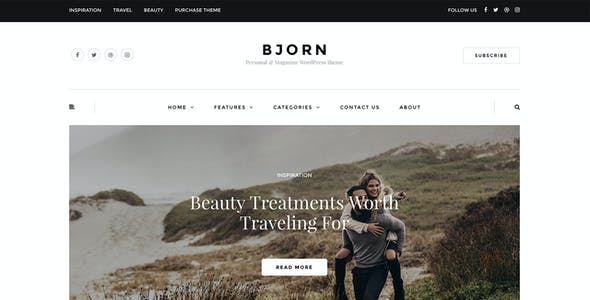 Bjorn - Responsive WordPress Personal Blog Theme