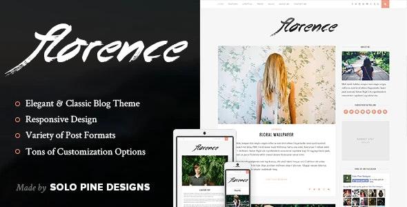 Florence - A Responsive WordPress Blog Theme - Personal Blog / Magazine