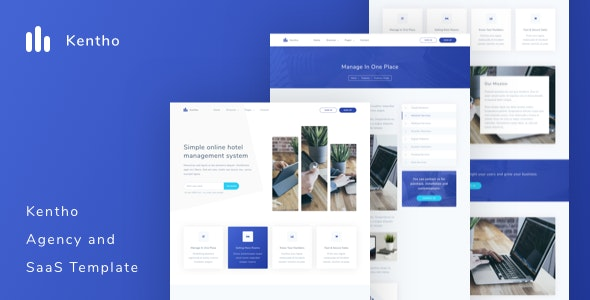 Kentho - Agency and SaaS Template - Software Technology