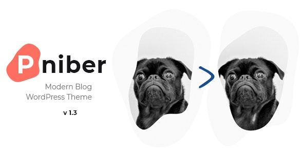 Pniber – Modern Blog WordPress Theme - Personal Blog / Magazine