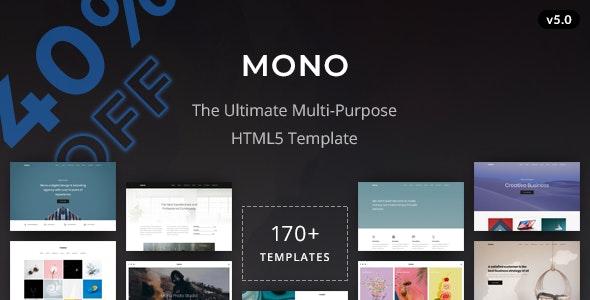 Mono - Creative Multi-Purpose HTML5 Template - Corporate Site Templates