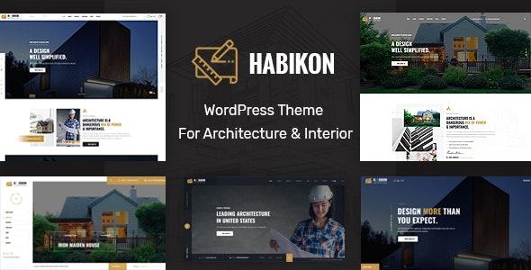 Habikon - Architecture and Interior Design WordPress Theme - Business Corporate