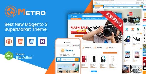 Metro - Multipurpose Responsive Magento 2 MarketPlace Theme - Shopping Magento