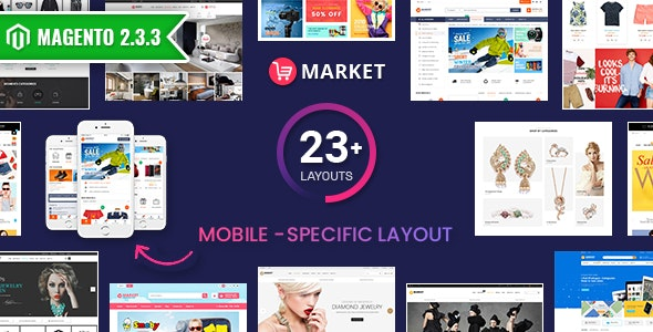 Market - Premium Responsive Magento 2 and 1.9 Store Theme with Mobile-Specific Layout (23 HomePages) - Shopping Magento