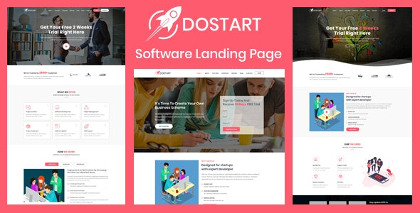 Dostart - Startup Landing Page - Software Technology