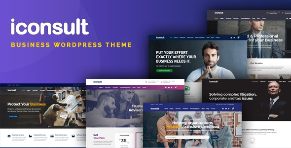iConsult – Business, Financial Consulting WordPress Theme - Miscellaneous WordPress