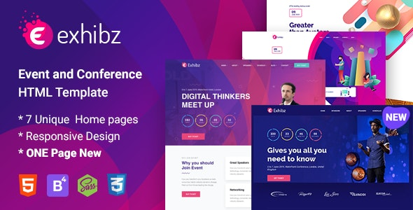 Exhibz - Conference and Event HTML Template - Events Entertainment