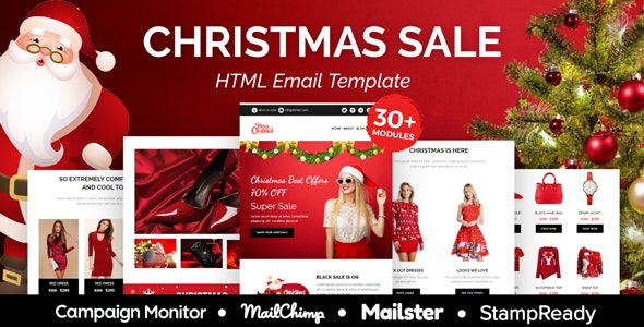 Christmas sale - Multipurpose Responsive Email Template 30+ Modules - Mailster & Mailchimp - Newsletters Email Templates
