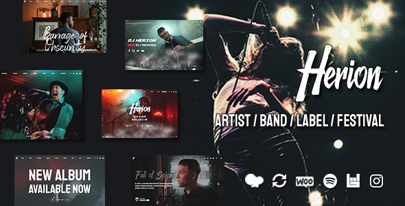 Herion - A WordPress Theme for the Music Industry - Music and Bands Entertainment
