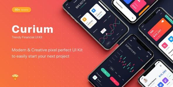 CURIUM - Financial UI Kit - Sketch Templates
