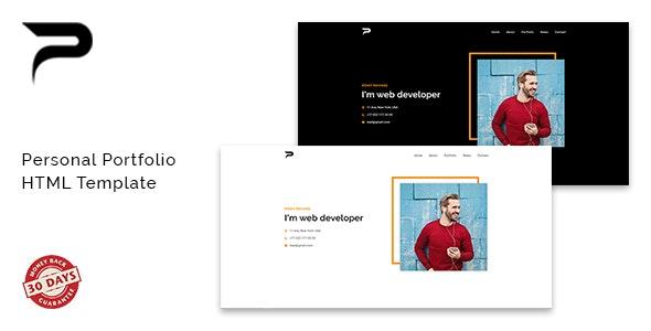 Portu - Personal / Portfolio / Resume Template - Virtual Business Card Personal