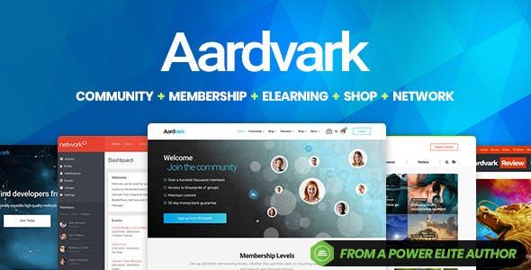 Download Aardvark - Community, Membership, BuddyPress Theme