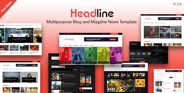 Headline - Multipurpose Magazine Blog Responsive Template - Miscellaneous Site Templates