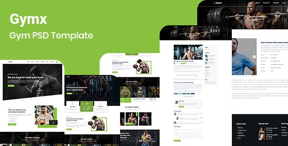 Gymx- Gym PSD Template - Health & Beauty Retail
