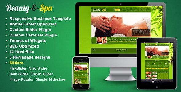 Beauty-spa - Responsive website template - Site Templates
