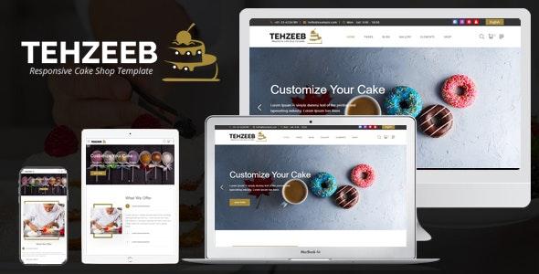 Tehzeeb - Responsive Cake Shop Template - Business Corporate