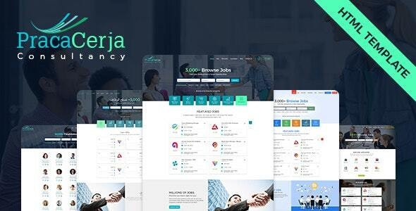 Praca Cerja Consultancy HTML Template - Corporate Site Templates